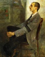 Ловис Коринт. Портрет художника Вальтера Леистов