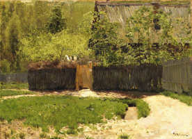 Isaac Levitan. First green. May. Increased repetition of etude 1883