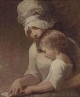 Джордж Ромни. Женщина с ребенком. Портрет миссис Камберленд и ее сына Чарльза