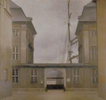 Вильгельм Хаммерсхёй. Вид на здание Старой Азиатской компании