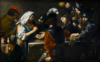Valentin de Boulogne. The fortune teller and soldiers