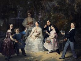 Портрет семьи И.П. Лесникова