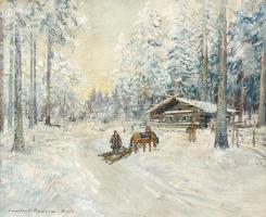 Константин Алексеевич Коровин. Зима. Лес