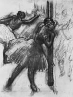 Эдгар Дега. Балерина у опоры