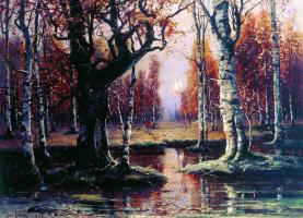Юлий Юльевич Клевер. Лесной пейзаж