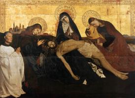 Ангерран Шаронтон. Оплакивание Христа. Пьета Вильнев-ле-Авиньон