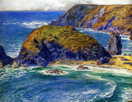 William Holman Hunt. Asparagus Island, Cornwall