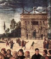 Пьетро Перуджино. Крещение Христа. Фрагмент3