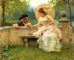 Федерико Андреотти. Трогательный момент в саду