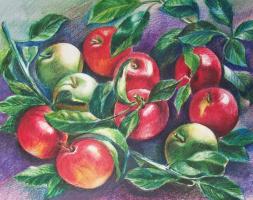 Евгений Квавадзе. Красные яблоки.  2016