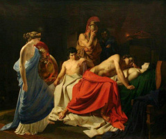 Nikolai Nikolaevich Ge. Achilles, Patroclus oplachivali