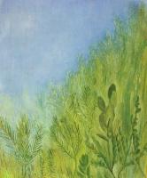 """Давид Петрович Штеренберг. Небо и травы. Из серии """"Травы"""""""
