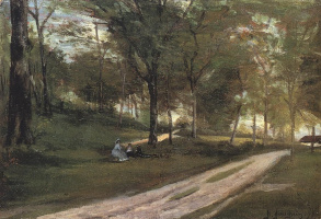 Paul Gauguin. In the forest Saint-Cloud