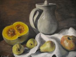 Alexander Valerievich Orlov. Still life with pears and pumpkin