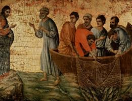 Дуччо ди Буонинсенья. Явление Христа на Тиберийском озере