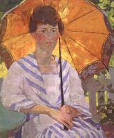 Бесси Х. Вессель. Женщина и зонтик