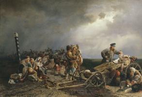 Валерий Иванович Якоби. Привал арестантов. 1861