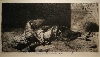 Mariano Fortuni-i-Carbo. The Arab, covered the body of his dead friend