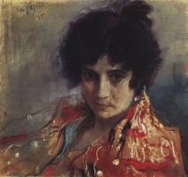 Valentin Aleksandrovich Serov. Portrait of an unknown