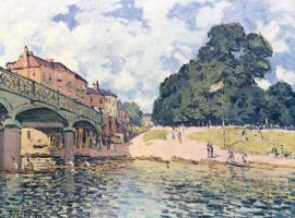 Альфред Сислей. Мост в Хэмптон-Корте