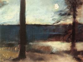 Лессер Ури. Лунный свет на побережье недалеко Марка Бранденбурга