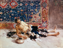 Mariano Fortuni-i-Carbo. Smoker of opium