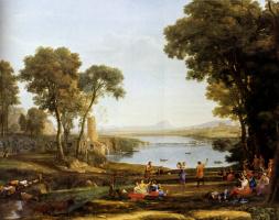 Клод Лоррен. Пейзаж с браком Исаака и Ревекки