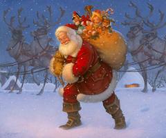 Скотт Густафсон. Санта идет с подарками