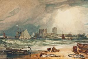 Джозеф Мэллорд Уильям Тёрнер. Замок Пембрук. Небо проясняется после грозы