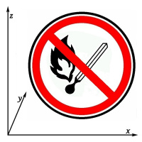 """Arthur Gabdrupes. """"Sign"""" : """"safety"""" : """"Keep away from fire"""" ."""