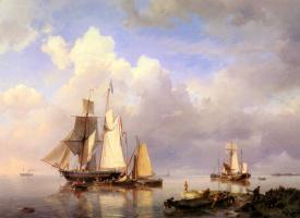 Герман Куккук. Лодка с рыбаками