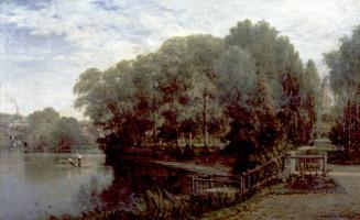 Алексей Петрович Боголюбов. Жуков пруд в Москве