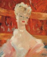 Jean Domerg - Gabriel 1889 - 1962 France. The blonde in the Paris casino.