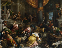 Francesco Bassano. The expulsion of the merchants from the temple