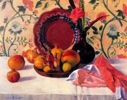 Warren Brandt. Still life with pomegranate