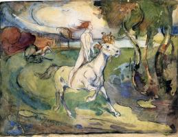 Оскар Кокошка. Девушка на коне