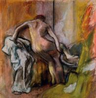 Эдгар Дега. Женщина, выходящая из ванной