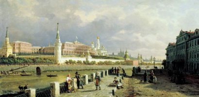 Петр Петрович Верещагин. Вид Московского кремля