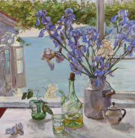 Natalia Gennadyevna Tour. Irises in cans