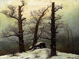 Каспар Давид Фридрих. Дольмен в снегу