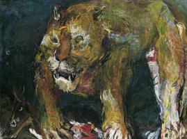 Oskar Kokoschka. A lion