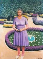 Хигинио Маллебрера. Женщина в саду