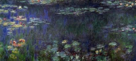 Клод Моне. Водяные лилии, зеленое отражение (левая половина)