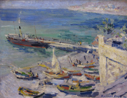 Konstantin Korovin. Pier in the Crimea
