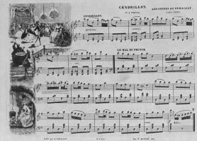 """Шарль-Франсуа Добиньи. Иллюстрация к положенным на музыку сказкам Перро: """"Золушка"""""""