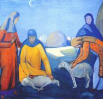 Павел Варфоломеевич Кузнецов. Стрижка овец