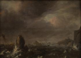 Ян Порселлис. Шторм на море