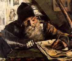 Ловис Коринт. Старик пишет письмо
