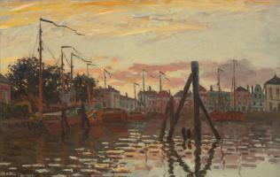 Claude Monet. House in Zaandam, on the river Zan