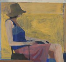 Richard Dibenkorn. Sitting figure in a hat